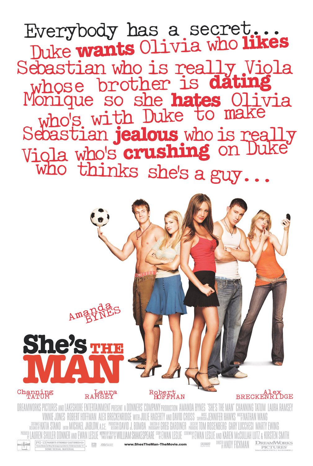 "poster for ""She's the Man"" by Andy Fickman(2006)"