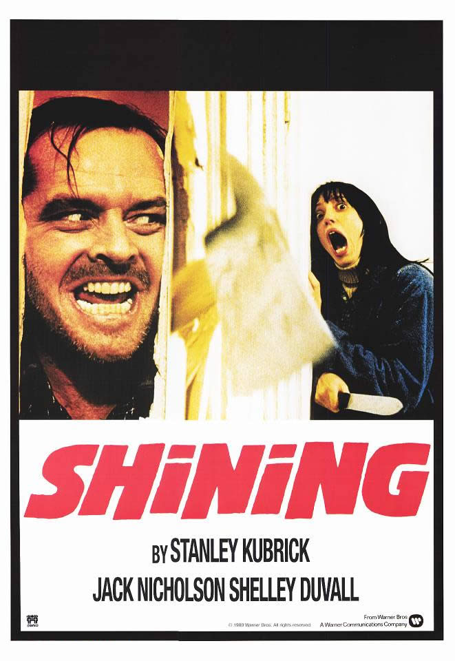 "poster for ""Shining, The"" by Stanley Kubrick (1980)"