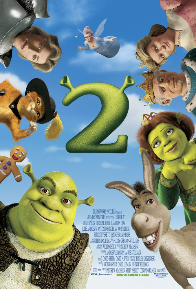 "poster for ""Shrek 2"" by Andrew Adamson  