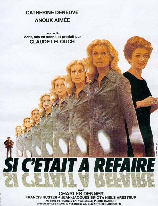 "poster for ""Si c'�tait a Refaire"" by Claude Lelouch(1976)"