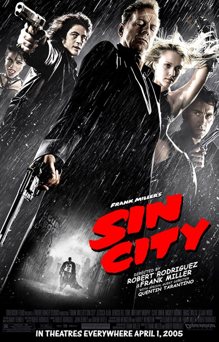 "poster for ""Sin City"" by Frank Miller 