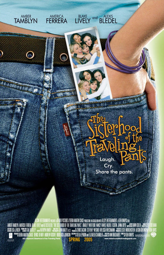 "poster for ""Sisterhood of the Traveling Pants, The"" by Ken Kwapis (2005)"