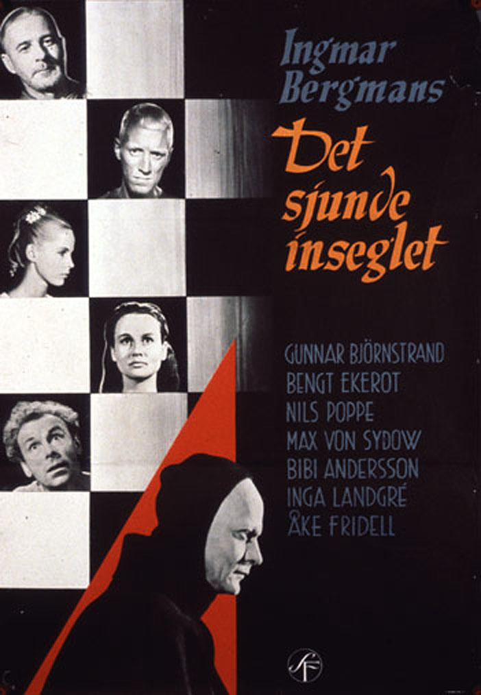 "poster for ""Sjunde Inseglet, Det (The Seventh Seal)"" by Ingmar Bergman (1957)"