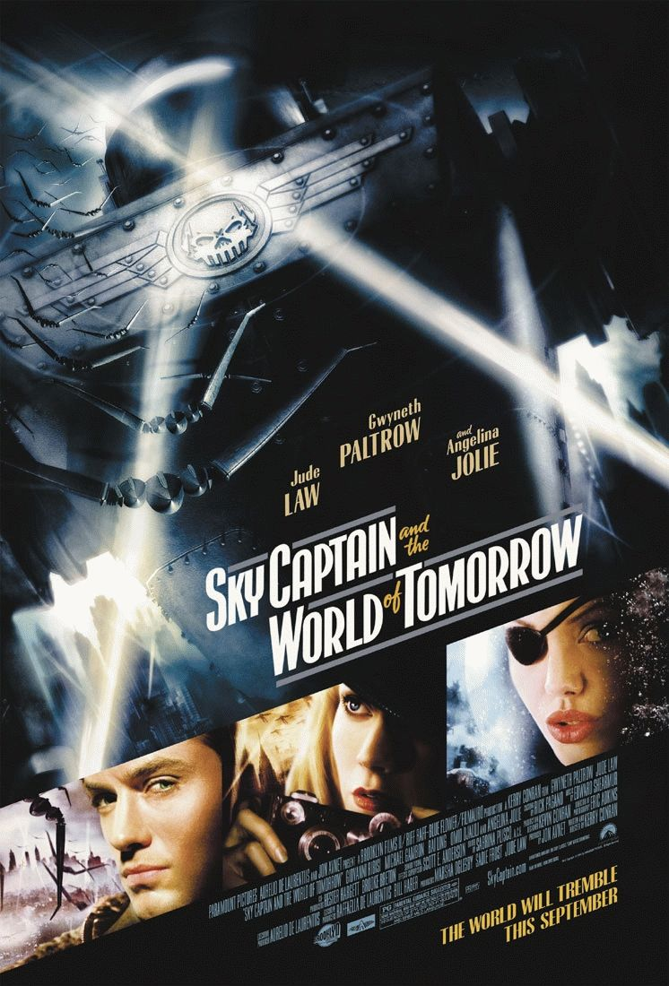 "poster for ""Sky Captain and The World of Tomorrow"" by Kerry Conran (2004)"