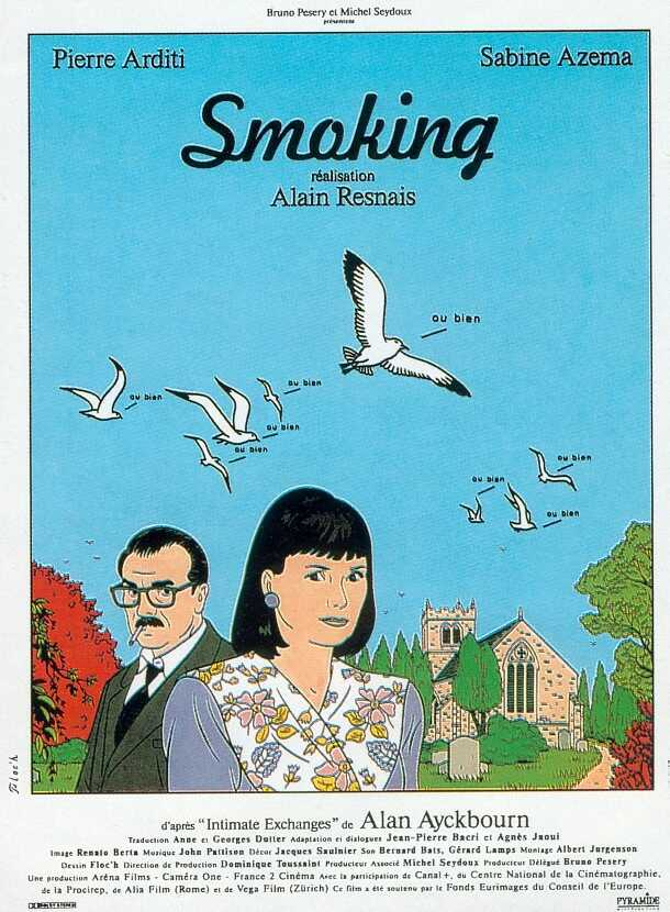 "poster for ""Smoking"" by Alain Resnais(1993)"