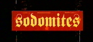 "poster for ""Sodomites"" by Gaspar No�(1998)"