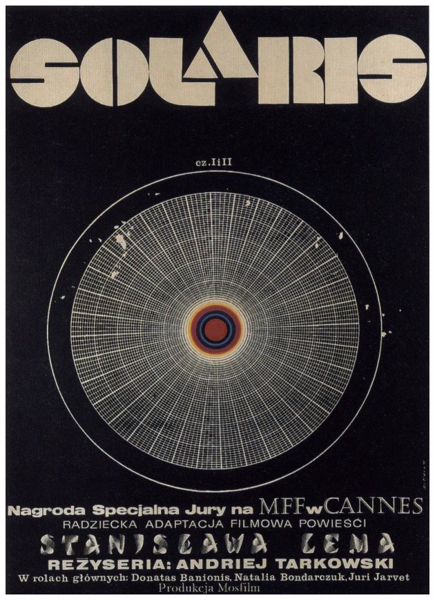 "poster for ""Solyaris (Solaris)"" by Andrei Tarkovsky(1972)"