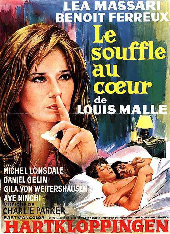 "poster for ""Le Souffle Au Coeur"" by Louis Malle(1971)"