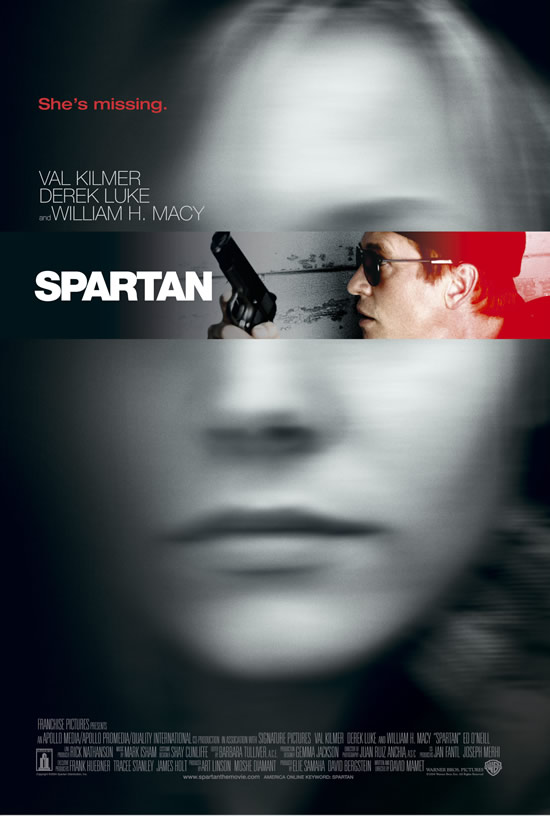 "poster for ""Spartan"" by David Mamet(2004)"