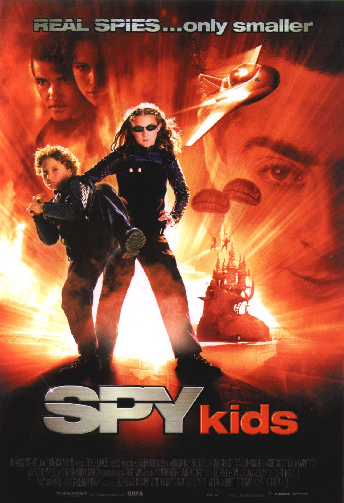 "poster for ""Spy Kids"" by Robert Rodriguez (2001)"