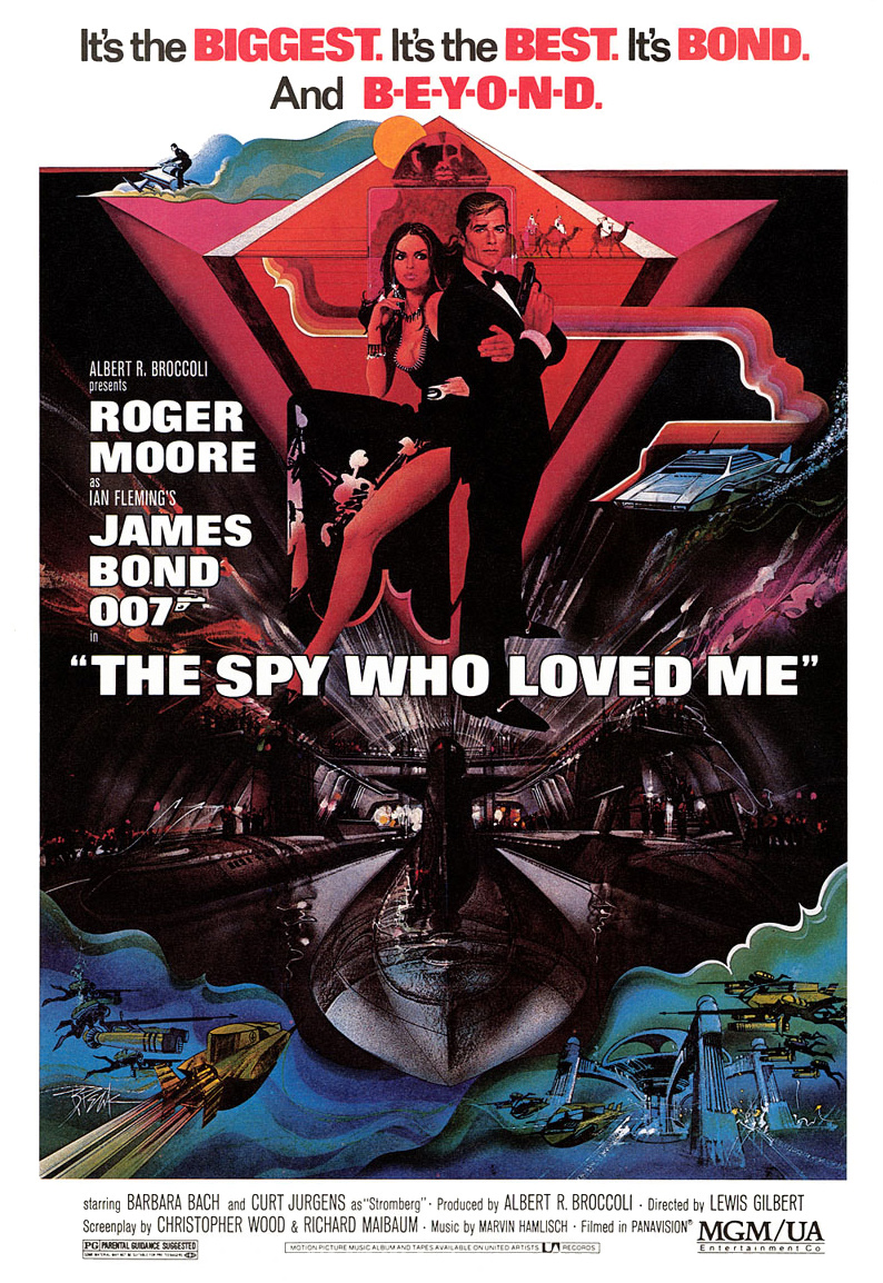 "poster for ""The Spy who Loved Me"" by Lewis Gilbert(1977)"