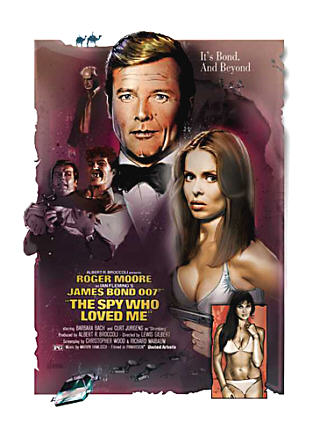 "poster for ""The Spy who Loved Me&quot"