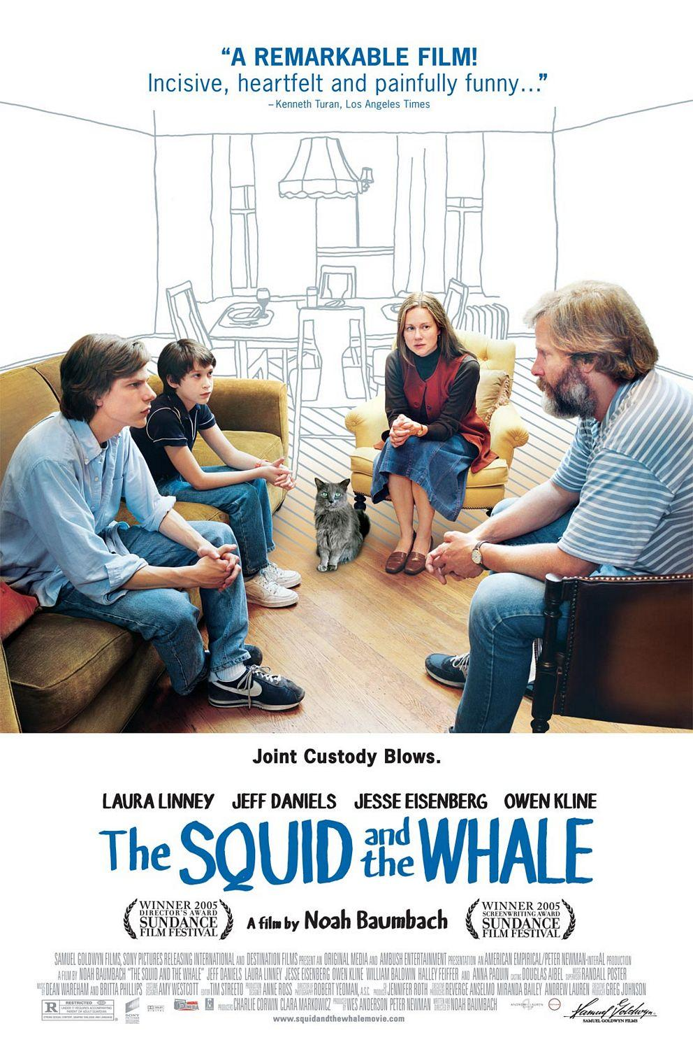 "poster for ""Squid And The Whale, The"" by Noah Baumbach(2005)"