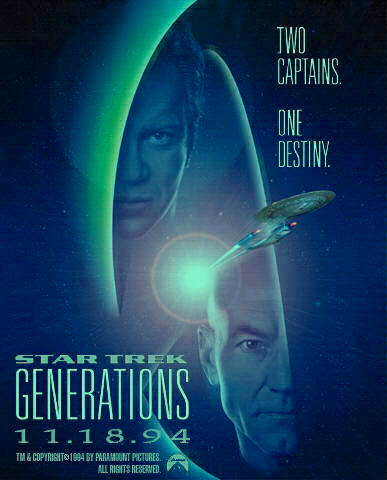 "poster for ""Star Trek Generations&quot"