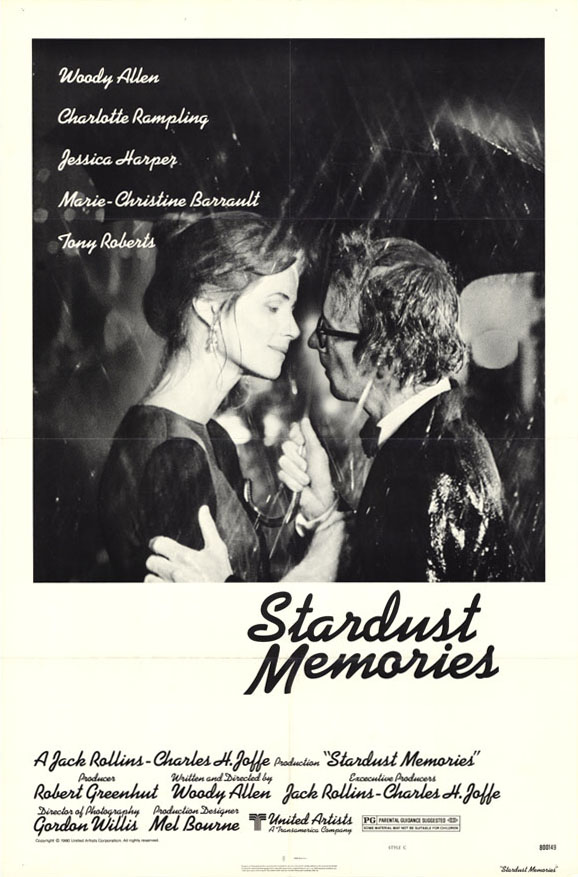 "poster for ""Stardust Memories"" by Woody Allen(1980)"