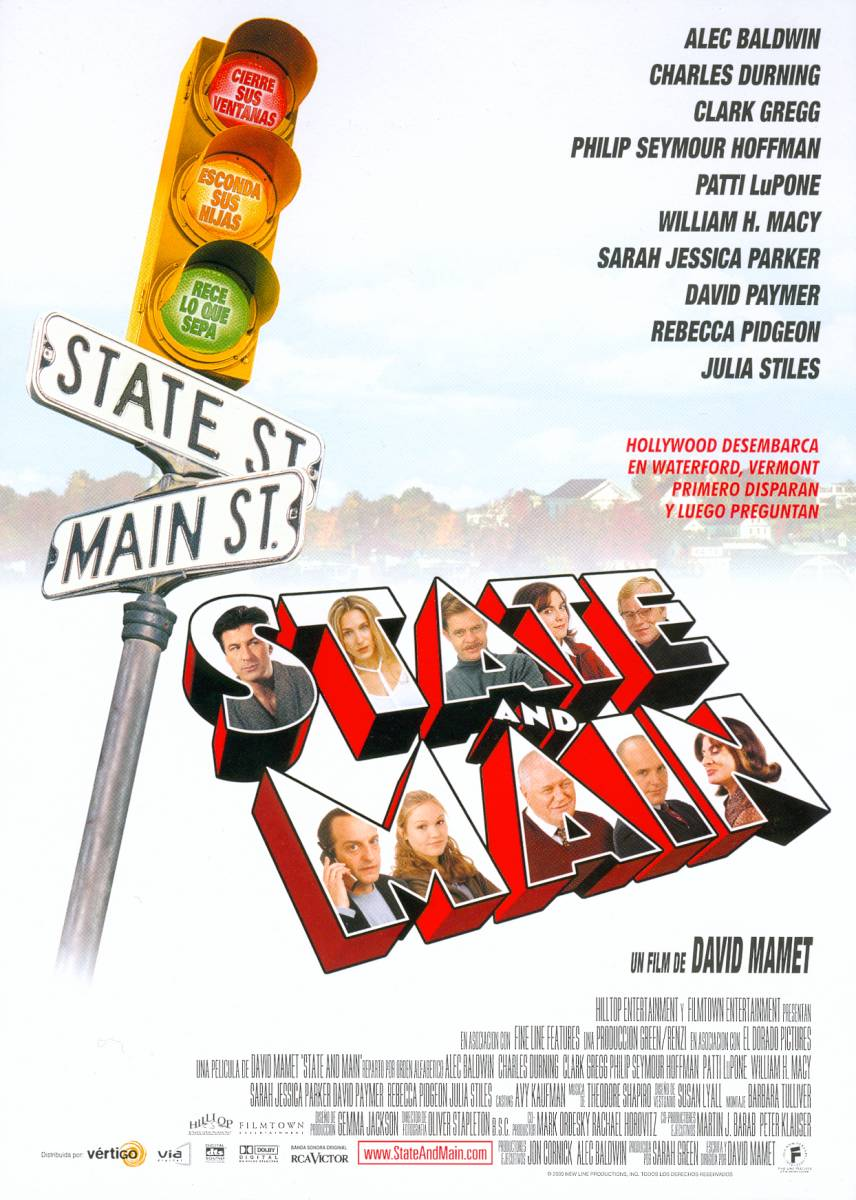 "poster for ""State and Main"" by David Mamet(2000)"