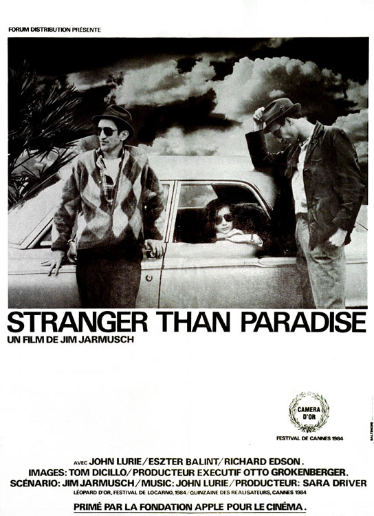 "poster for ""Stranger Than Paradise"" by Jim Jarmusch(1983)"