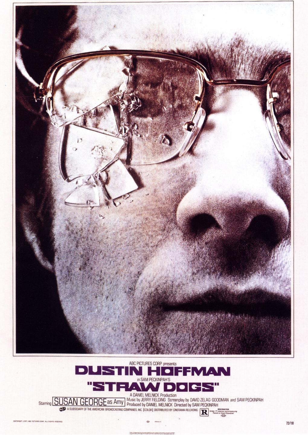 "poster for ""Straw Dogs"" by Sam Peckinpah (1971)"