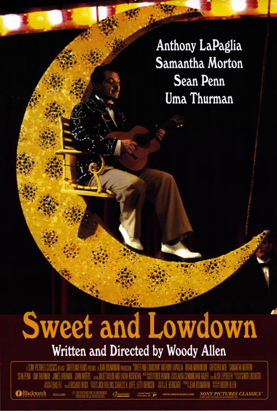 "poster for ""Sweet and Lowdown"" by Woody Allen(1999)"