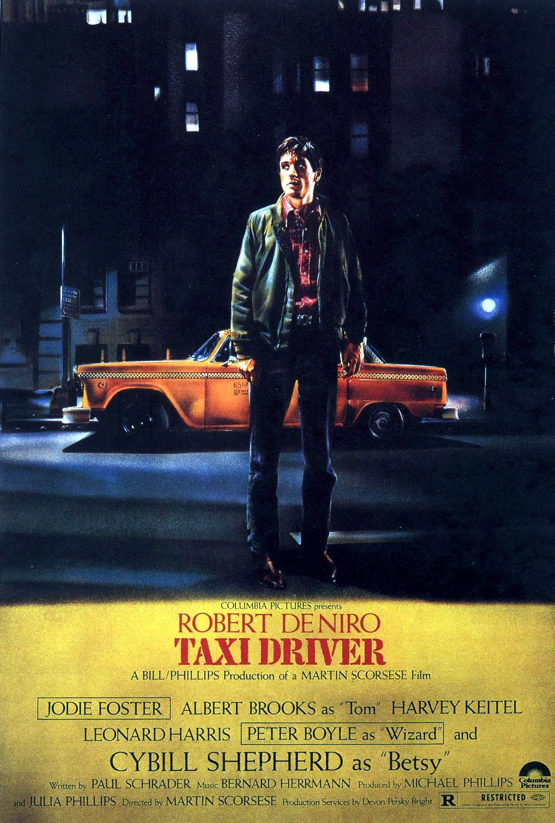 "poster for ""Taxi Driver"" by Martin Scorsese(1976)"