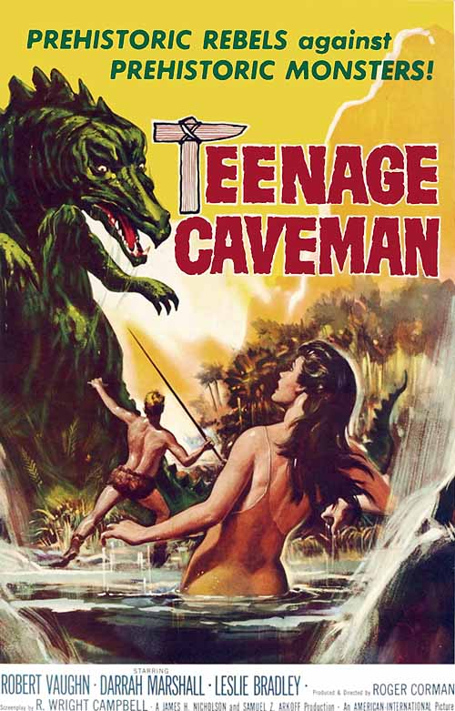 "poster for ""Teenage Caveman"" by Roger Corman(1958)"