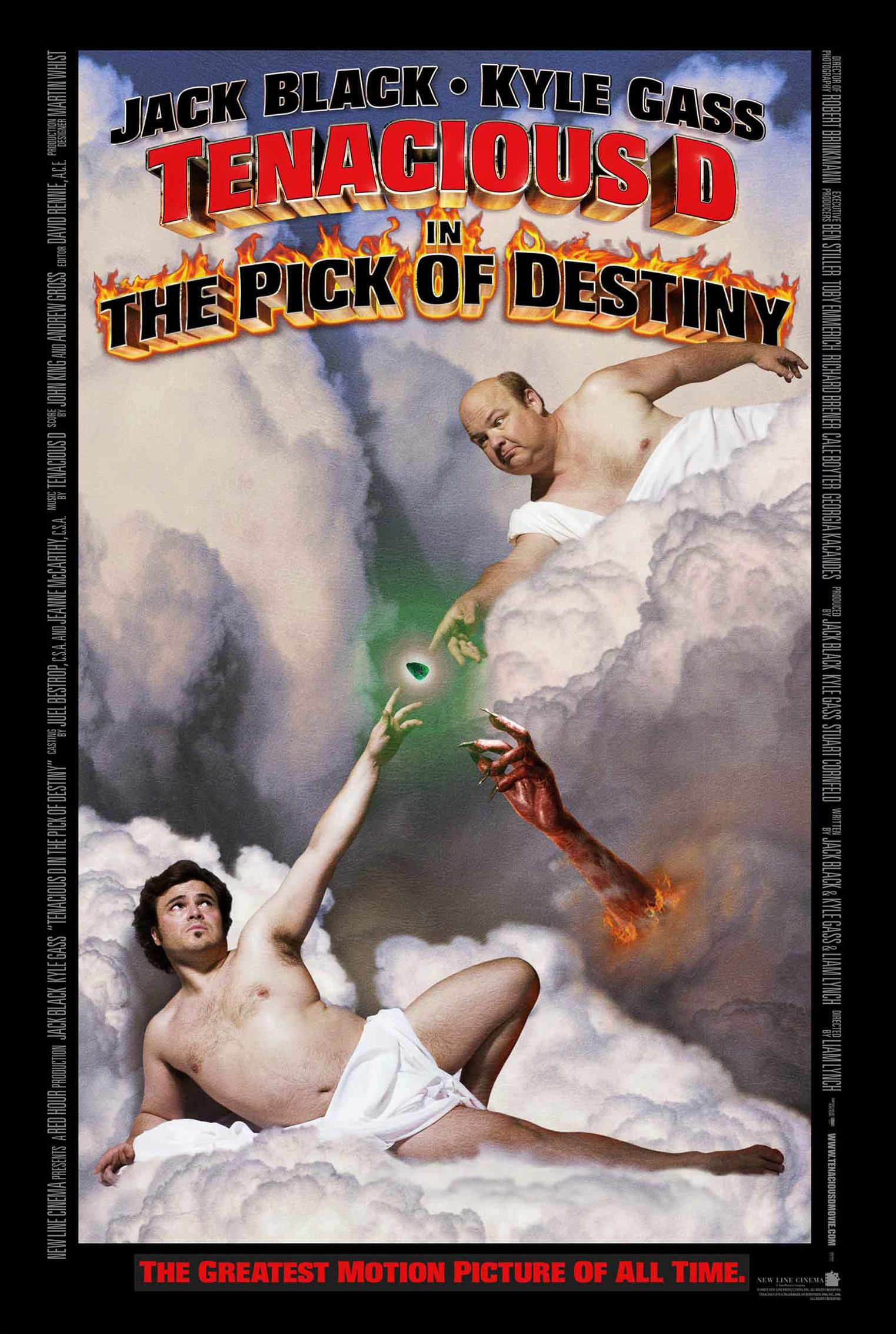 "poster for ""Tenacious D in The Pick of Destiny"" by Liam Lynch(2006)"