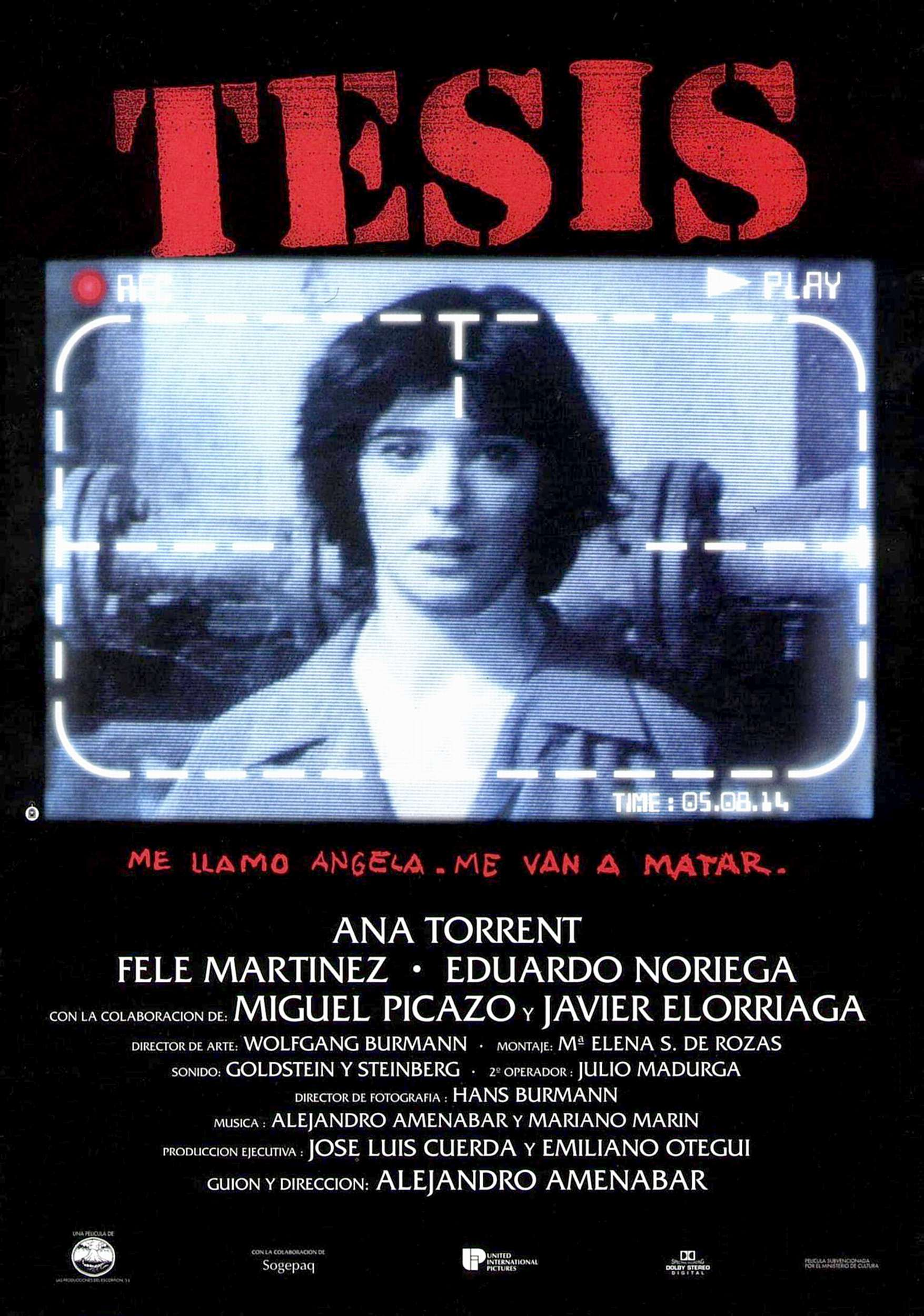 "poster for ""Tesis"" by Alejandro Amen�bar(1996)"