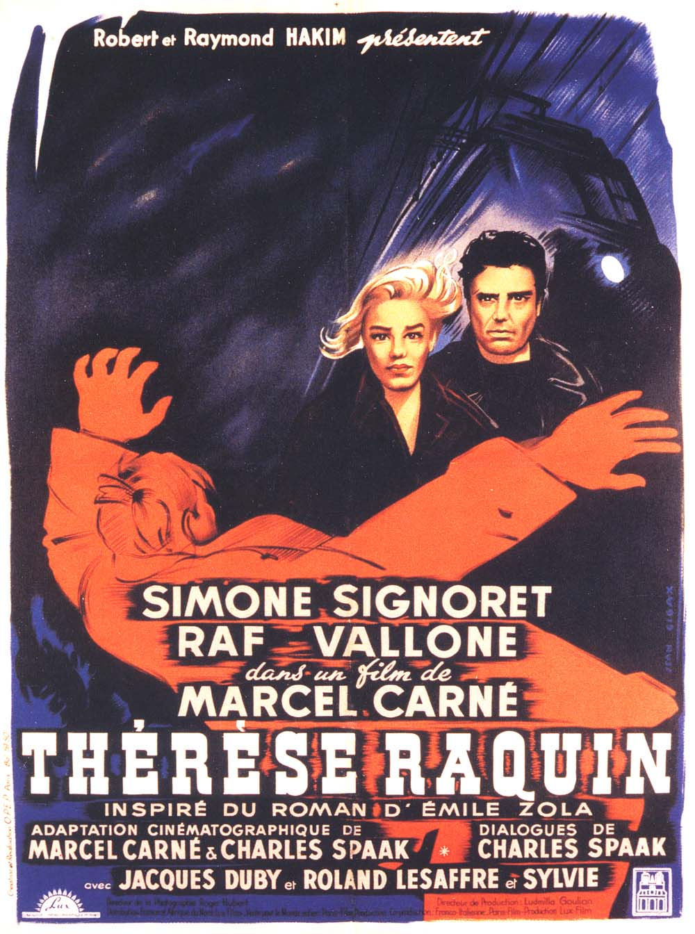 "poster for ""Th�r�se Raquin"" by Marcel Carn� (1953)"