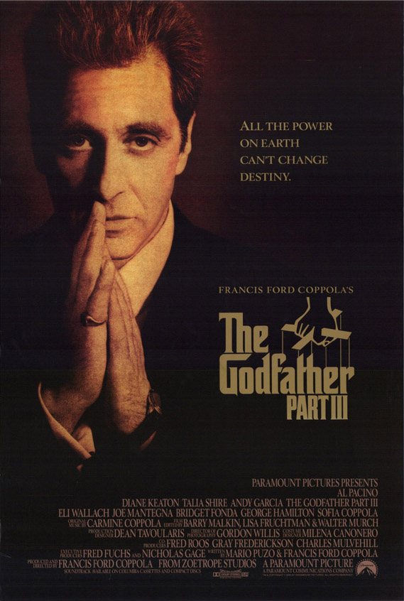 "poster for ""Godfather: Part III, The"" by Francis Ford Coppola(1990)"