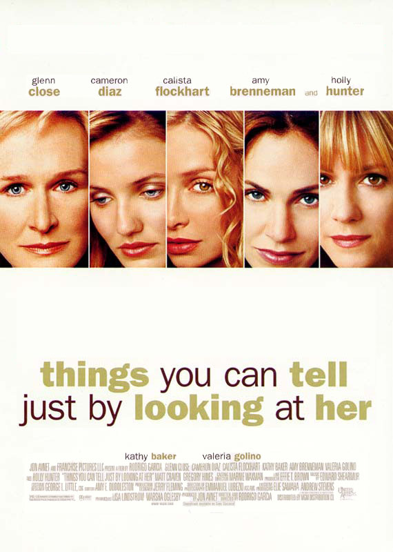 "poster for ""Things You Can Tell Just by Looking at Her"" by Rodrigo Garc�a (2000)"