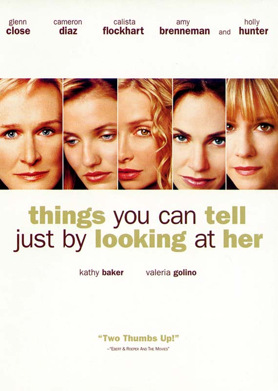 "poster for ""Things You Can Tell Just by Looking at Her&quot"