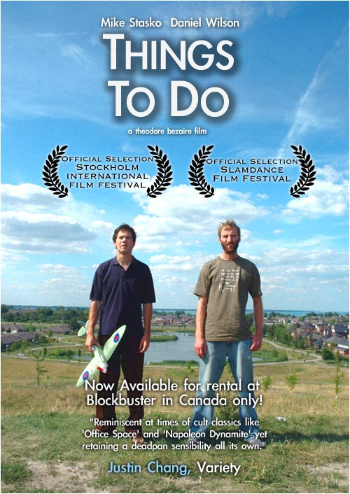 "poster for ""Things To Do"" by Ted Bezaire(2006)"