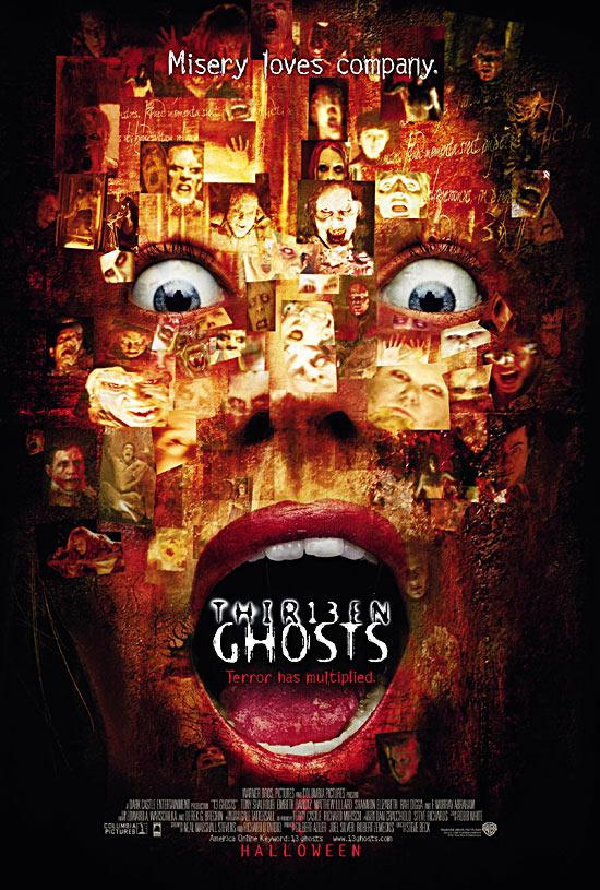 "poster for ""Thir13en Ghosts"" by Steve Beck (2001)"