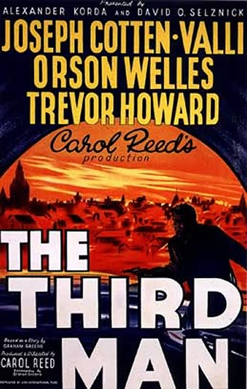 "poster for ""Third Man, The"" by Carol Reed(1949)"