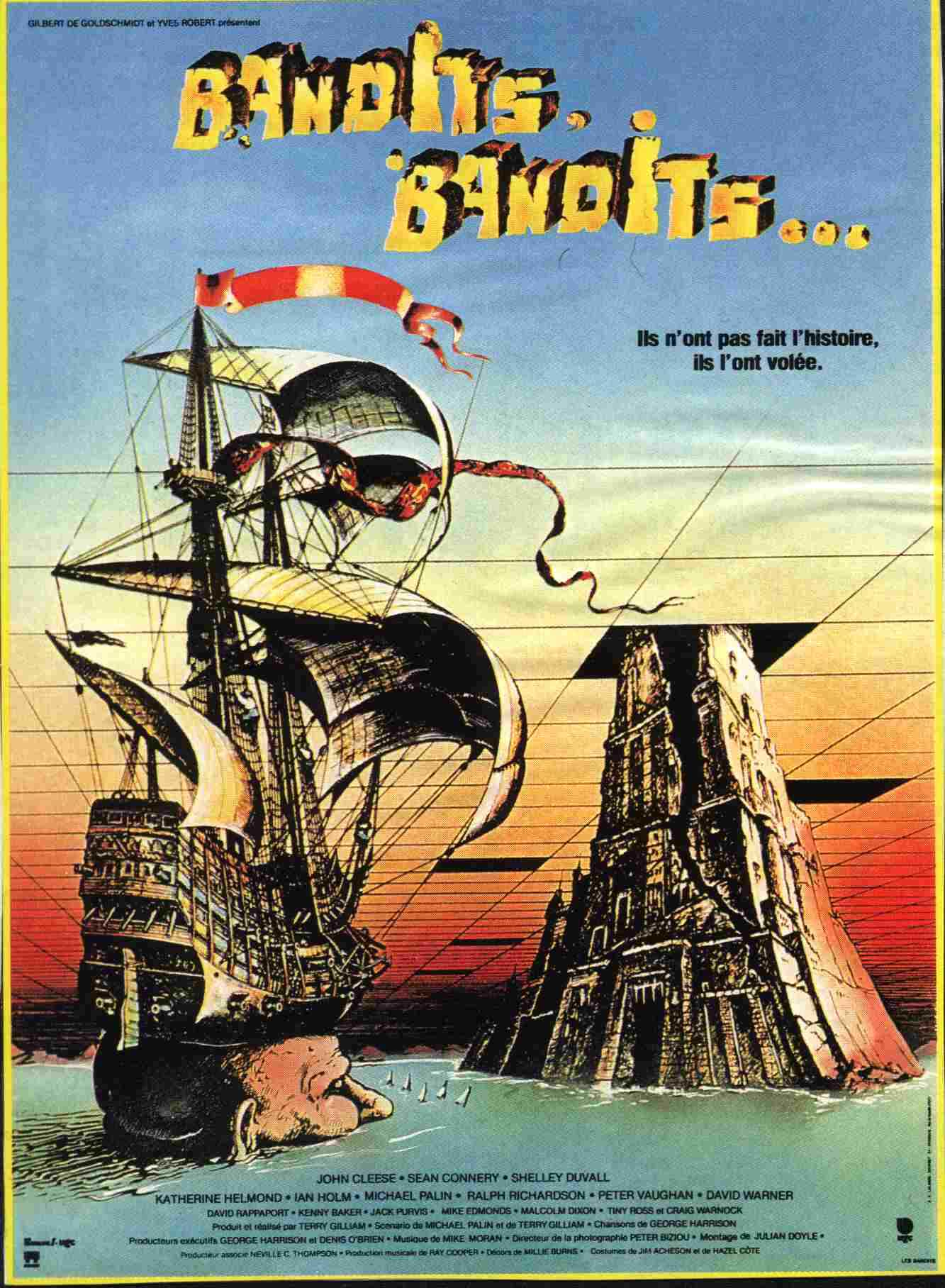"poster for ""Time Bandits"" by Terry Gilliam (1981)"