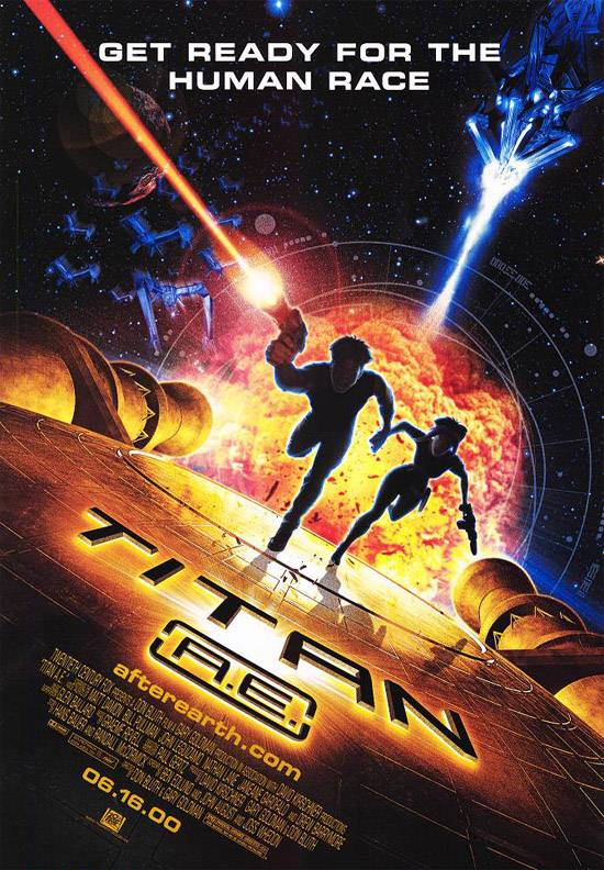 "poster for ""Titan A.E"" by Don Bluth 