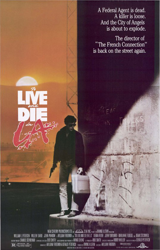 "poster for ""To Live and Die In L.A."" by William Friedkin(1985)"