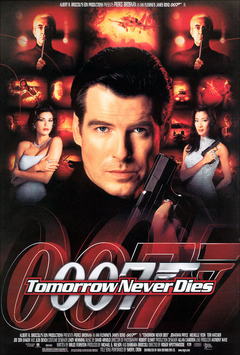 "poster for ""Tomorrow Never Dies"" by Roger Spottiswoode (1997)"