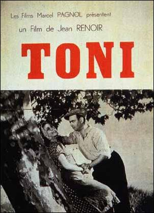 "poster for ""Toni"" by Jean Renoir(1935)"