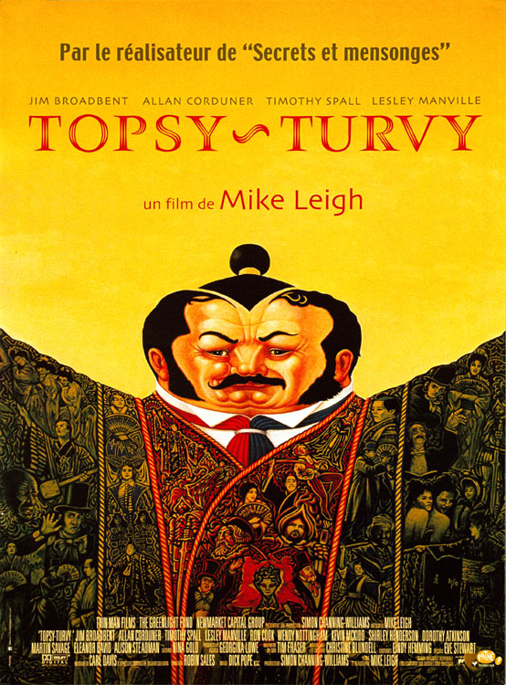 "poster for ""Topsy Turvy"" by Mike Leigh(1999)"