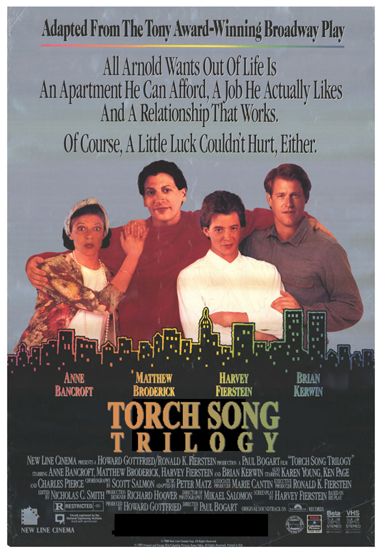 "poster for ""Torch Song Trilogy"" by Paul Bogart (1988)"