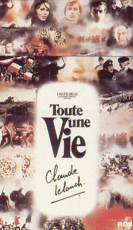 "poster for ""Toute Une Vie"" by Claude Lelouch(1974)"