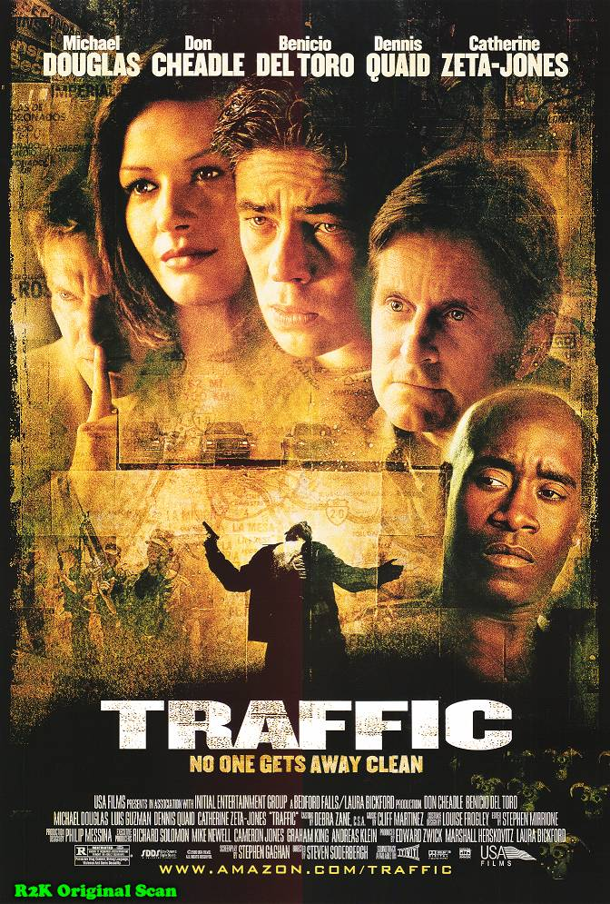 "poster for ""Traffic"" by Steven Soderbergh(2000)"