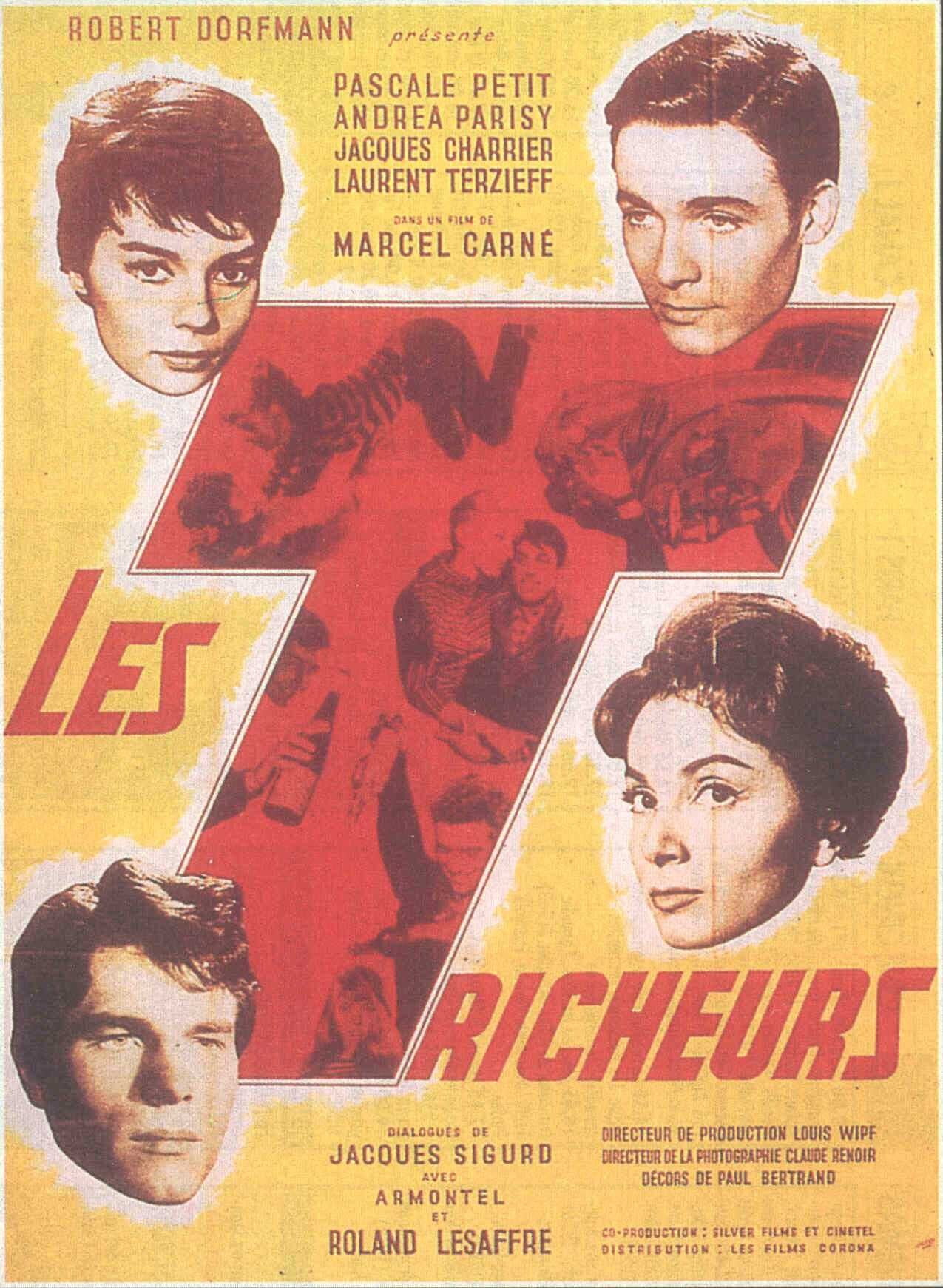 "poster for ""Tricheurs, Les"" by Marcel Carn�(1958)"