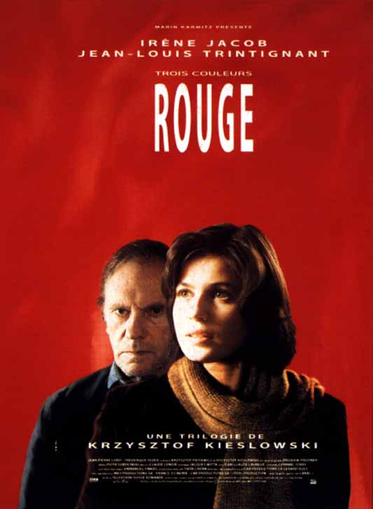 "poster for ""Trois Couleurs : Rouge  (Three Colors: Red)"" by Krzysztof Kieslowski(1994)"