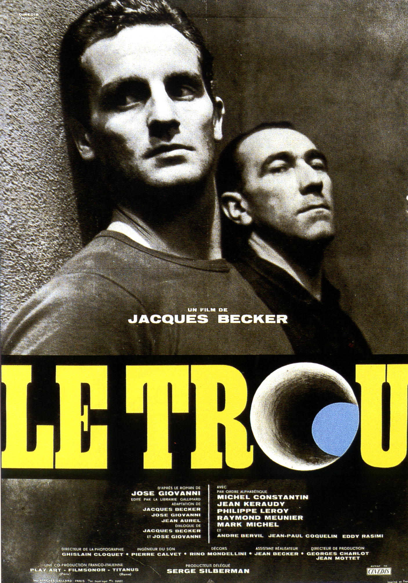 "poster for ""Trou, Le"" by Jacques Becker(1960)"