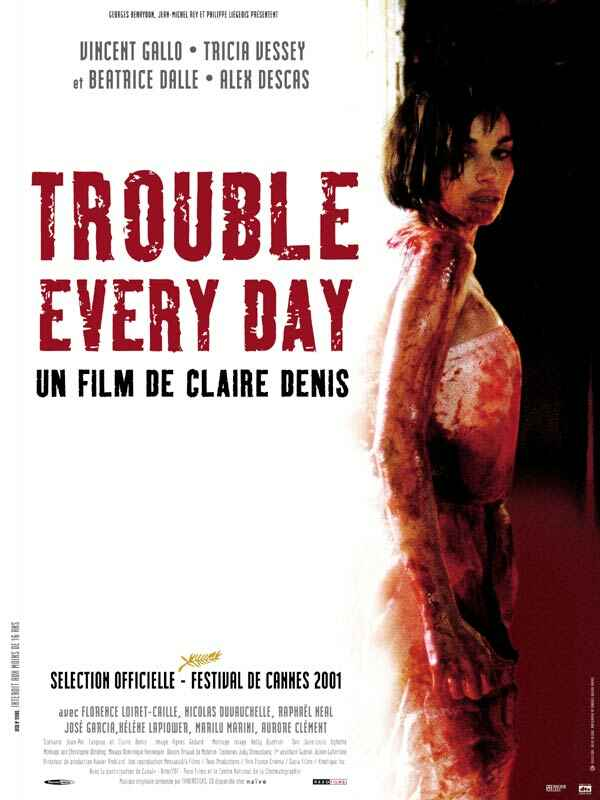 "poster for ""Trouble Every Day"" by Claire Denis(2001)"