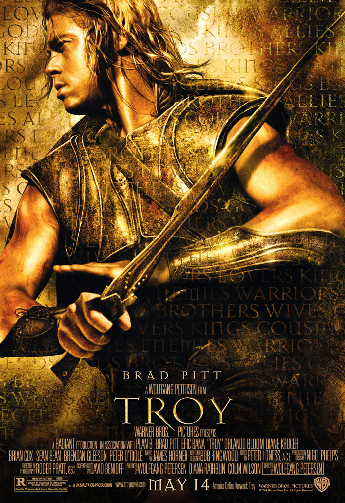 "poster for ""Troy"" by Wolfgang Petersen (2004)"