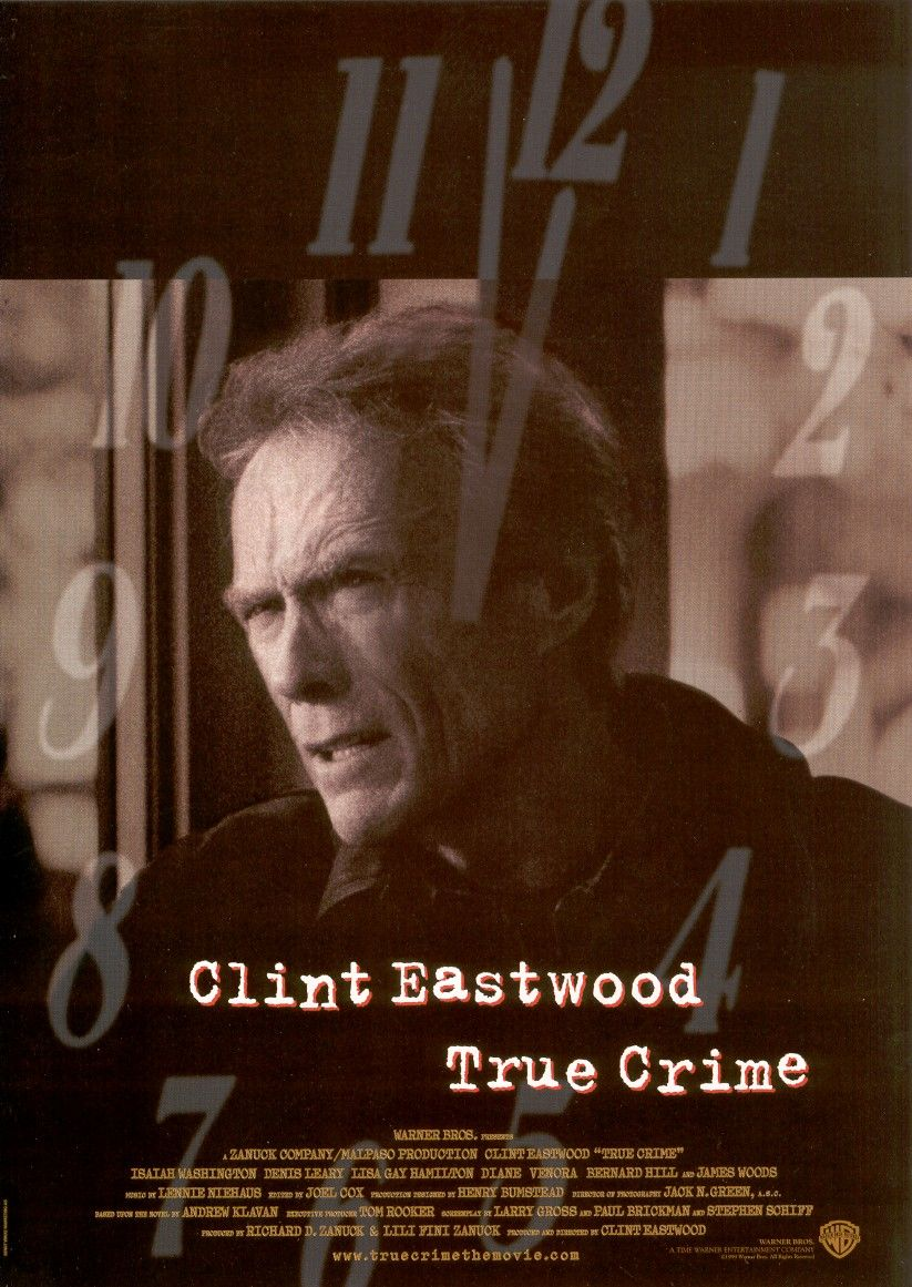 "poster for ""True Crime"" by Clint Eastwood(1999)"