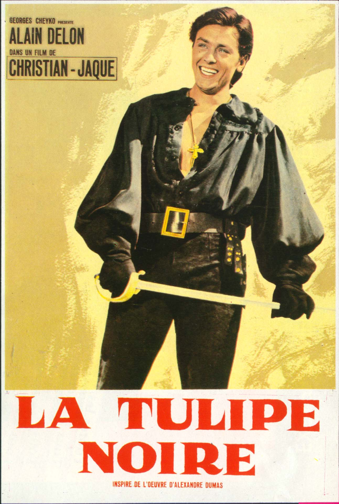 "poster for ""Tulipe Noire, La"" by Christian-Jaque(1964)"